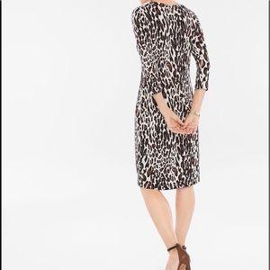 CHICO'S • Leopard Animal Print V-Neck Dress